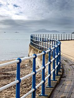 promenade on the Firth of Forth, Kirkcaldy, Scotland.