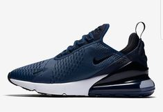 cbc7dc99e1043 Men s UK Nike Air Max 270 Midnight Navy Shoes Midnight Navy Black-White  Trainers UK Sale are of great quality and ...