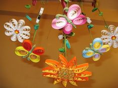 Butterfly Mobile - Baby Mobile - Baby Crib Mobile  - Quilled Summer Garden Quilling 3 via Etsy