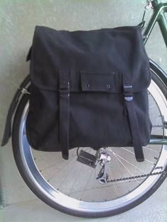 Giant Capacity Canvas Bicycle Pannier by WhiteLineBags on Etsy, $50.00