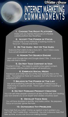 10 Internet Marketing Commandments #digitalmarketing