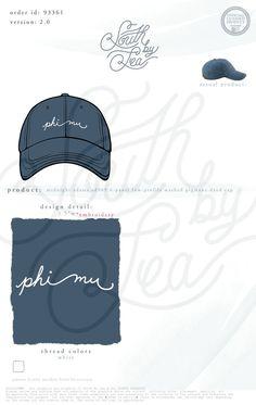 Phi Mu Hat | Navy Sorority Hat | Baseball Hats | South by Sea | Sorority Shirts | Sorority Tanks | Greek Shirts