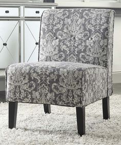 Love this Gray Damask Coco Accent Chair by Linon Home on #zulily! #zulilyfinds