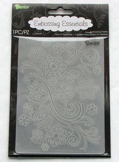 Darice Snowflake Swirl A2 Embossing Folder by catSCRAPPIN on Etsy