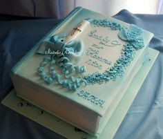 Candle rosary bible cake