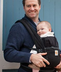 The Ergo X-tra buckle carrier for babies: Love it because it adjusts to fit dads too