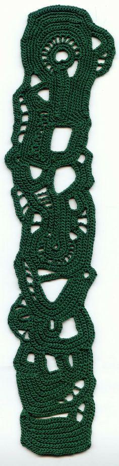 Green freeform crochet choker par ulani sur Etsy