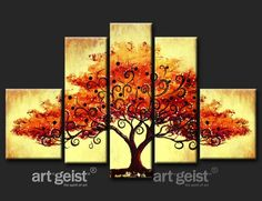 painting of a tree in autumn