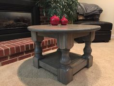 rustic round coffee table w storage round by