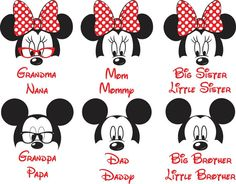 Disney Family shirt  Mickey and minnie by CuteCreativesCreatio