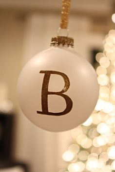 DIY Monogram Christmas Ornaments