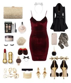 """New Years Eve Princess"" by cartonai on Polyvore featuring Glamorous, Oscar de la Renta, Neiman Marcus, 8 Other Reasons, Charlotte Russe, Laura Mercier, Bobbi Brown Cosmetics, Stila, Furla and Olivia Burton"