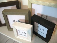 Shadowbox Square Barnwood Frames Deep 3x3 4x4 5x5 6x6 7x7 Black White Brown Grey Cream Instagram Photo Picture Frame Barn Wood Frames Box Picture Frames Frame