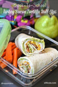 Perfect back-to-school lunch: Turkey Bacon Roll Ups Recipes #emeals @Emealz