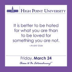 [CALENDAR] March 24, 2017 - High Point University | | High Point University | High Point, NC