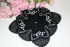 Crochet doily Square crochet doily Handmade by CrochetbyMariana