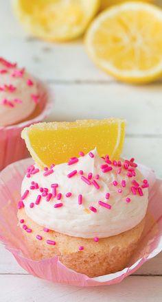 pink lemonade cupcakes...
