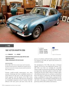 RM Auctions 1967 Aston Martin DB 6----a thing of beauty!
