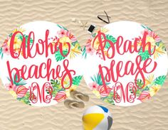 Aloha Beaches Towel  Personalized  Aloha by SassySouthernGals