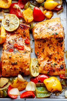 Sheet Pan Chili Lime Salmon | http://cafedelites.com