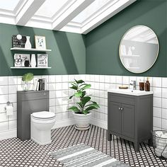 SHOP the Trafalgar Grey Sink Vanity Unit + Toilet Package at Victorian Plumbing UK White Vanity Unit, Sink Vanity Unit, Gray Vanity, Vanity Units, Grey Bathroom Furniture, Bathroom Interior, Shaker Style Furniture, Traditional Toilets, Concealed Cistern