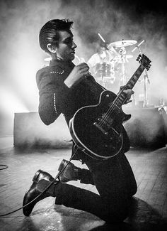 Mr. Alex Turner on his knees no less.