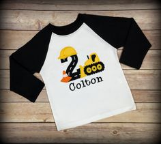 Construction birthday shirt,- boy birthday shirt,- bulldozer birthday shirt,- digger birthday shirt,- construction party, boy applique shirt We have tested several different products and use only the best shirts that are offered. Every shirt is made with durability in mind, as we know