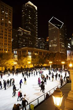 Ice skating in Millenium Park Chicago...if you haven't done it, you should!