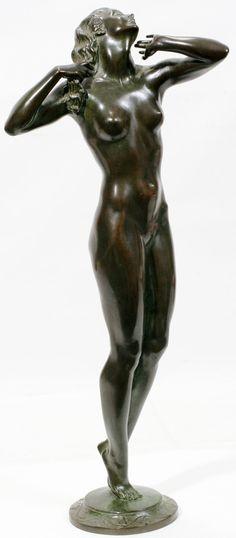 Frishmuth Bronze | HARRIET W. FRISHMUTH BRONZE SCULPTURE, GIRL : Lot 102017