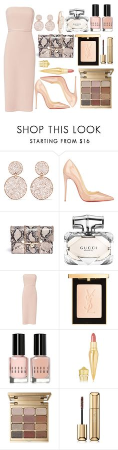 """""""Untitled #452"""" by ngkhhuynstyle ❤ liked on Polyvore featuring Ippolita, Christian Louboutin, Stuart Weitzman, Gucci, Elizabeth and James, Yves Saint Laurent, Bobbi Brown Cosmetics, Stila, Guerlain and Anita Ko"""