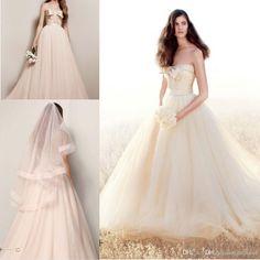 Дешевые Элегантные Свадебные Платья Двойного Плетения Matelasse Цветочные Платья 2015 New