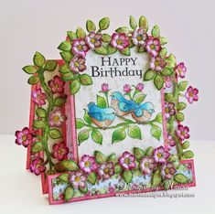 Designs by Marisa: Heartfelt Creations - Happy Birthday Center Step Card