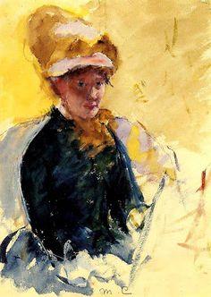 Autoportrait (1880), Mary Cassatt