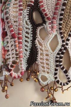 Freeform Crochet Vest Sweater Wearable Art by levintovich Art Au Crochet, Crochet Motifs, Freeform Crochet, Love Crochet, Irish Crochet, Crochet Stitches, Knit Crochet, Knitting Patterns, Crochet Patterns