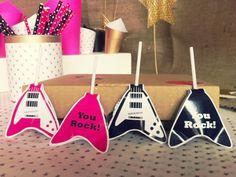 Chupetines Guitarras by www.tiendadoilies.com.ar