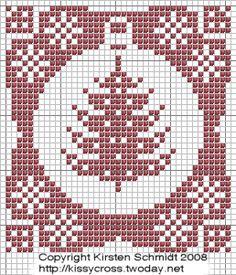 Ornament-Christmas Tree cross stitch chart
