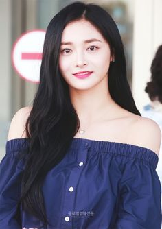 Kyulkyung as Sonna Kpop Girl Groups, Kpop Girls, She Was Beautiful, Ioi, Pop Group, Asian Beauty, Pretty Girls, Off Shoulder Blouse, Eye Candy