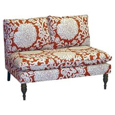 Gorgeous Fabric Print Settee.