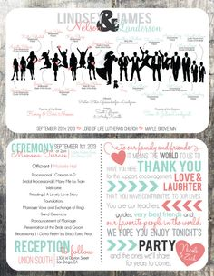 Silhouette Program, Thank You and Ceremony Schedule - Digital/Printable