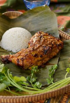 Ayam Percik (Malaysian Flame Grilled Chicken) ~ succulent chicken cooked over open fire or barbeque