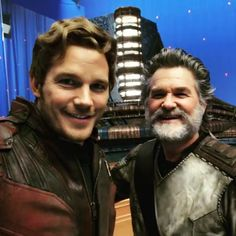 Entertainment: Chris Pratt and Kurt Russell on the set of 'Guardians of the Galaxy Vol. 2' ... [Mar 26, 2017, 2:56 pm]