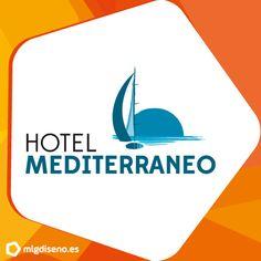 Diseño de logotipo en Málaga para Hotel Mediterraneo. Una imagen fresca y actual pero que mantiene la esencia de la Costa del Sol.
