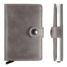 Liten lommebok i grå