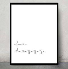 Inspirational typographic print elegant and simple por AngieDraws, $6.00