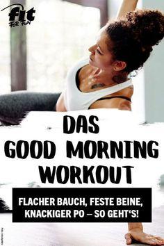 Starte fit in den Tag und bring deinen Body schon am Morgen schnell in Form. Das Programm dauert nämlich sage und schreibe nur 10 Minuten! #abnehmen #flacherBauch #homeworkout #fitness #training