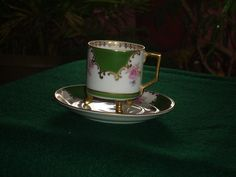 Mitterteich Demi Cup And Saucer by BullwinklesAttic on Etsy