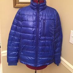 NWOT JCrew Cobalt Blue puffer jacket, Medium Terrific bright cobalt blue JCrew puffer jacket with 70% down fill. Size Medium with convenient zippers. brand new pulled off tag but not self remove sensor tag. just tried on never wore jacket. Please send questions if interested. 😀 J. Crew Jackets & Coats Puffers