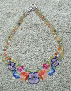 Joy necklace. Pattern from Beady Boop Vol 1 by Charlene Hughes