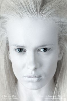 A woman from the albino village. #ATime2Die #NadineBrandes