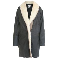 DRIES VAN NOTEN padded oiled waxed cotton jacket faux-shearling collar coat M #DriesVanNoten #BasicCoat